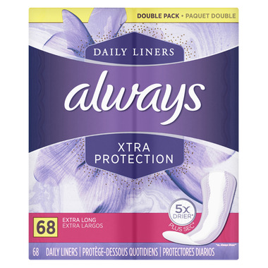 AlwaysXtra Protection Daily Liners Extra Long