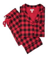 Little Blue House Buffalo Plaid Women's Cotton Jersey Pajama Set