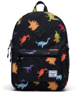 Herschel Supply Heritage Youth Backpack Dinosaurs Black