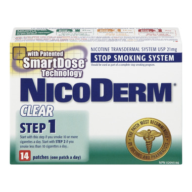 Nicoderm Clear Step 1 Nicotine Patches