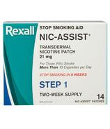 Rexall Nic-Assist Patch de thérapie d'arrêt du tabagisme 21mg