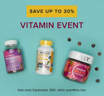 Save up to 30% on The Vitamin Event