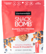 Snack Conscious Snack Bomb Blueberry Dark Chocolate Energy Balls
