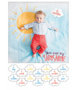 LuLujo Baby's First Year Milestone Blanket and Card Set You Are My Sunshine