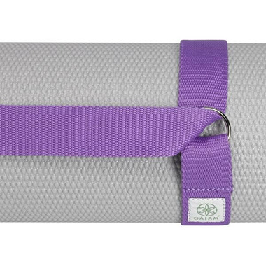 Gaiam Easy Cinch Yoga Mat Sling Purple