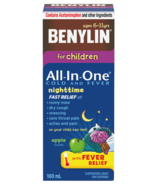Benylin For Children All In One Cold & Fever Nighttime Syrup