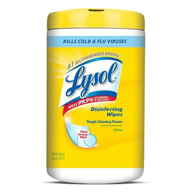 Lysol Disinfectant Surface Wipes With Tough Cleaning Power Citrus