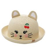 FlapJackKids Kids Straw Hat Cat