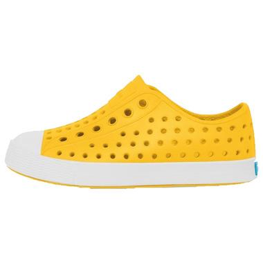 Native Kid\'s Jefferson Crayon Yellow & Shell White