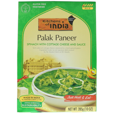 Kitchens Of India Spinach & Paneer Cheese Curry Palak Paneer