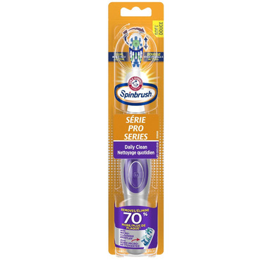 Arm & Hammer Spinbrush Pro Series Daily Clean Battery Powered Toothbrush