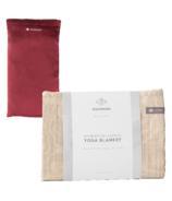 Halfmoon Yoga Relax & Savasana Blanket & Eye Pillow Set Sandstone & Garnet