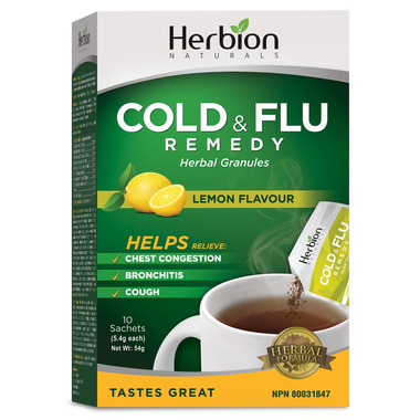 Herbion Cold & Flu Remedy Herbal Granules Lemon Flavour