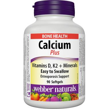 Webber Naturals Calcium Plus Vitamins D, K2 & Minerals