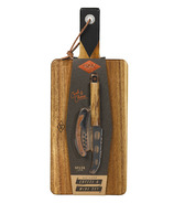 Gentlemen's Hardware Cheese Board & Knife Set with Wine Opener