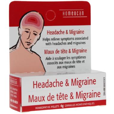 Homeocan Headache & Migraine Homeopathic Pellets
