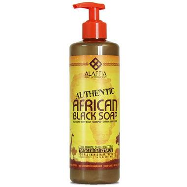 Alaffia Tangerine Citrus Authentic Black Soap
