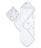 aden + anais Muslin Backed Hooded Towel & Washcloth Rock Star