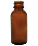 Penny Lane Organics Amber Bottle with Black Tamper-Proof Cap Set of 10