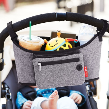Skip Hop Grab and Go Stroller Organizer Heather Grey