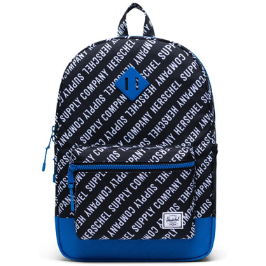 Herschel Supply Heritage Youth XL Roll Call Black, White & Lapis Blue