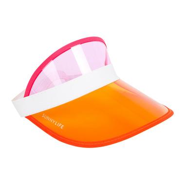 Sunnylife Retro Sun Visor Neon Yellow & Neon Pink