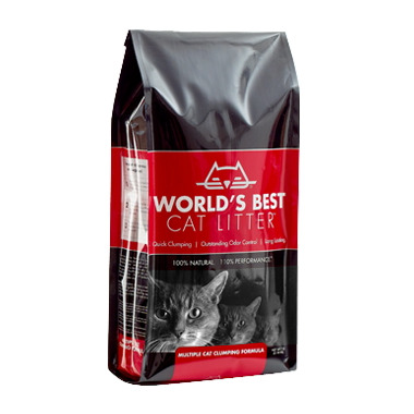 World\'s Best 100% Natural Cat Litter Multiple Cat Formula