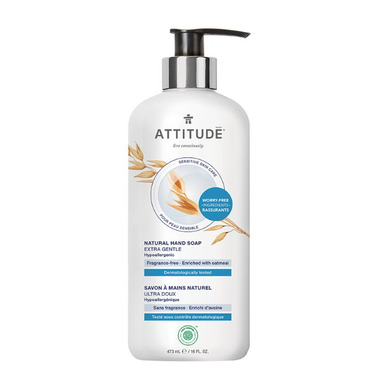 Attitude Sensitive Skin Hand Soap Extra Gentle Fragrance Free