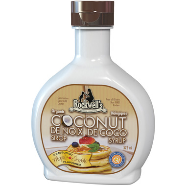 Rockwell\'s Whole Foods Organic Coconut Syrup Maple Flavour