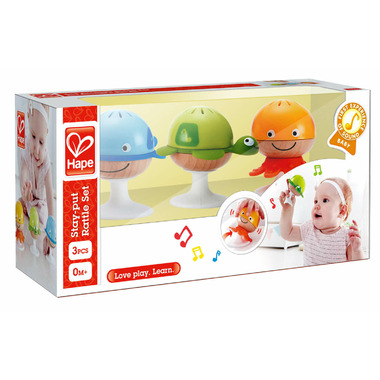 Hape Toys Stay-Put Rattle Set