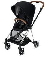 Cybex Mios Chrome Brown Frame with Premium Black Seat Pack