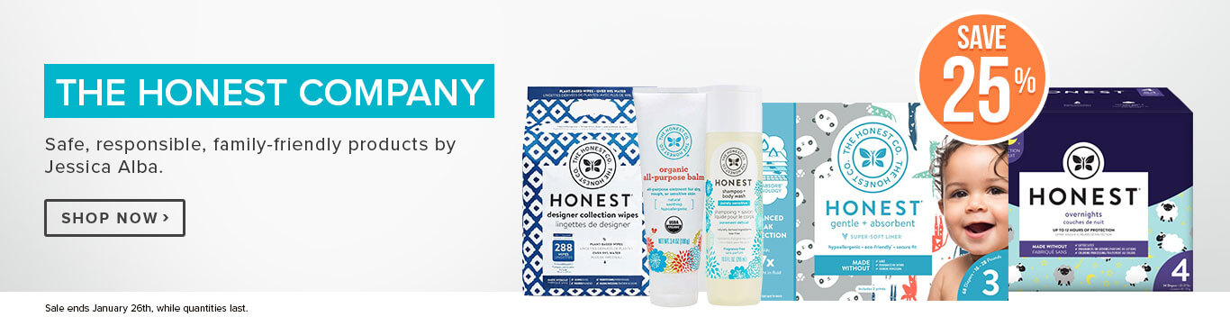 Save 25% off the Honest Company