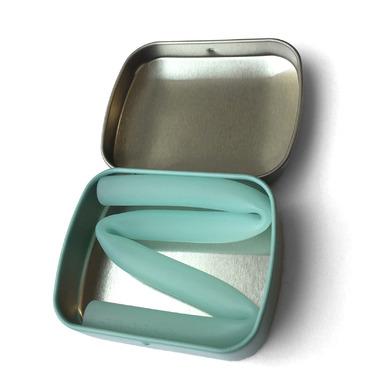Silikids Large Tin Single Reusable Straw Mint