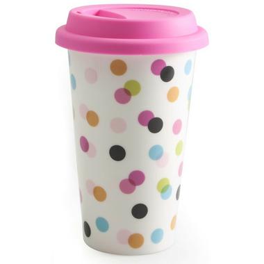 BIA Double-Walled Travel Mug Dots