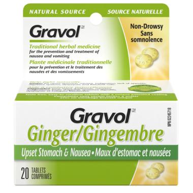 Gravol Natural Source Ginger Tablets