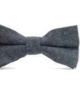 Mini Swag Solid Gray Bow Tie