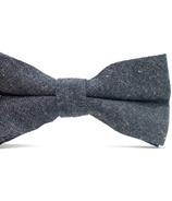 Mini Swag Solid Gray Bow Tie
