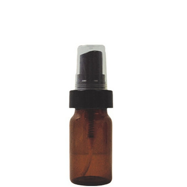 Cocoon Apothecary 20 mL Glass Amber Vial with Black Mister SET OF 6