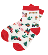 Little Blue House Kid's Socks Country Christmas