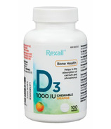 Rexall Vitamin D3 1000 IU Chewable Tablet Orange