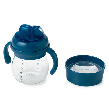 OXO Tot Transitions Soft Spout Sippy Cup Set Navy