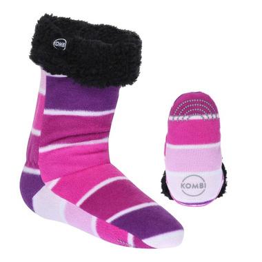Kombi The Shepa Fleece Sock Rose Violet Colour Fan
