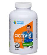 Platinum Naturals Multivitamines Activ-X pour les hommes actifs