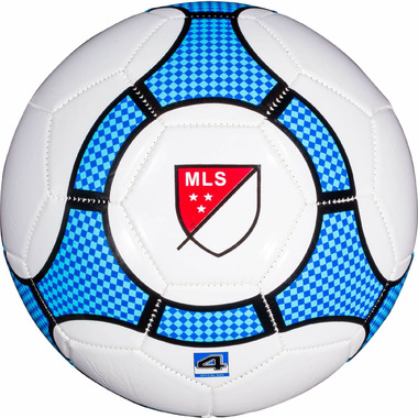 Franklin Sports MLS Size 4 Soccer Ball White and Blue