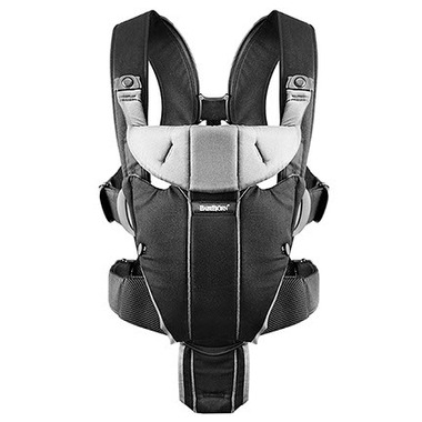 BabyBjorn Baby Carrier Miracle Black & Silver