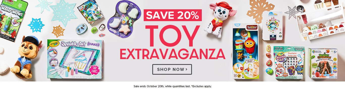Save 20% - 4 Day Toy Event