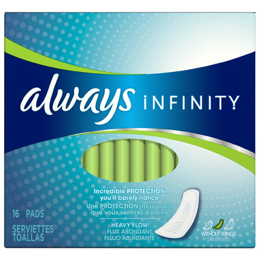 Always Infinity Pads Without Wings
