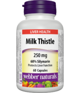 Webber Naturals Milk Thistle with 60% Silymarin