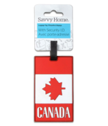 Savvy Home Canadian Flat Luggage Tag with Security ID