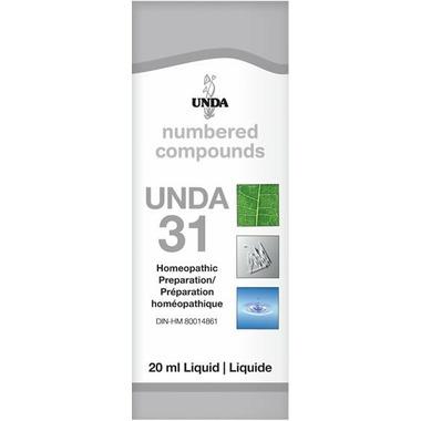 UNDA Numbered Compounds UNDA 31 Homeopathic Preparation